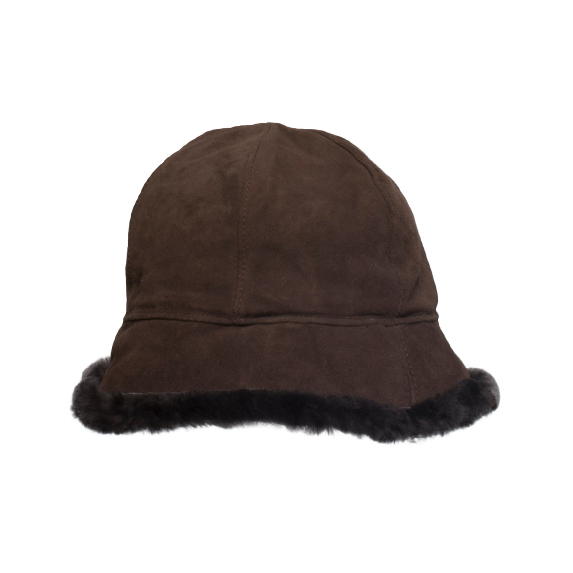 b6541f94658 ... UGG Suede Fleece Lined Cloche Chocolate Hat - Women s