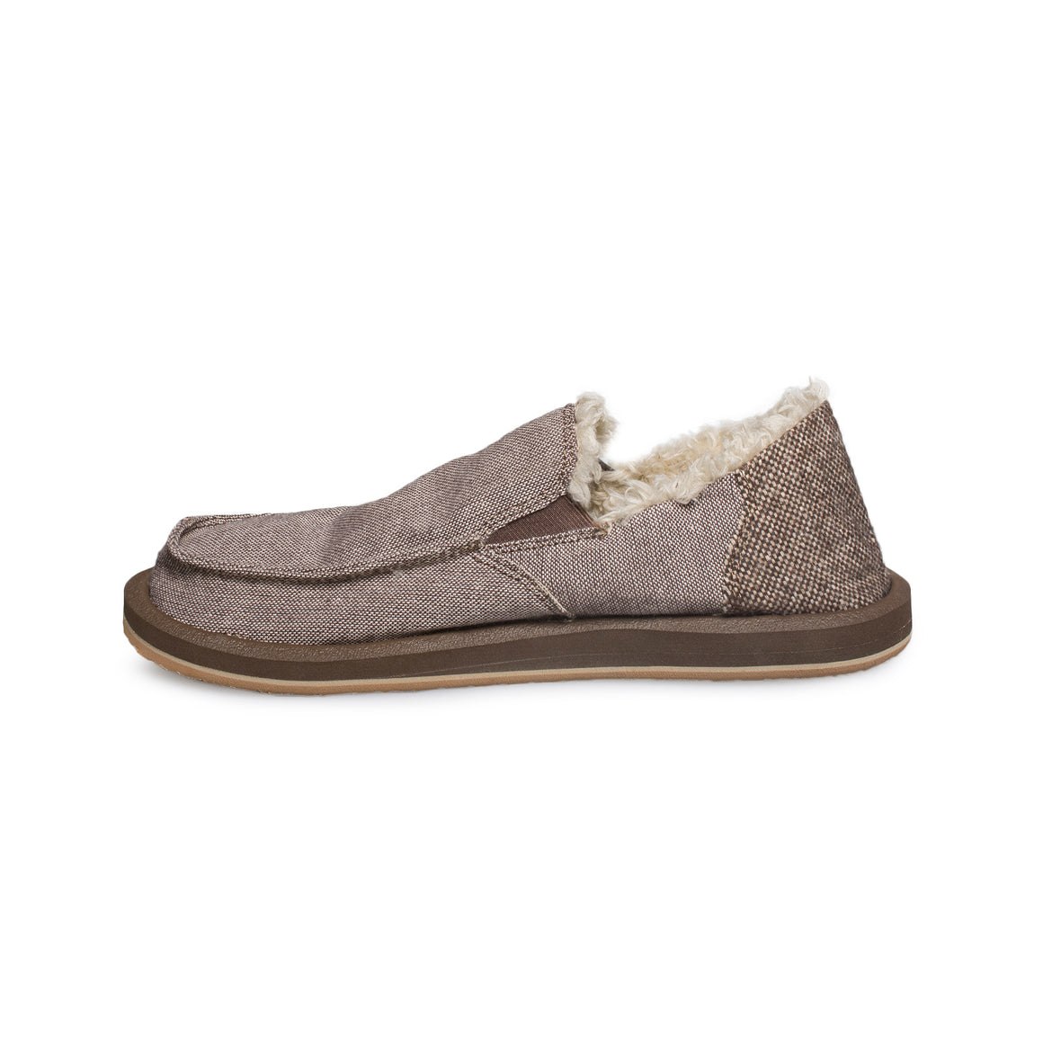 Sanuk Vagabond Chill Dark Brown Wool Fleck Shoes - Men's