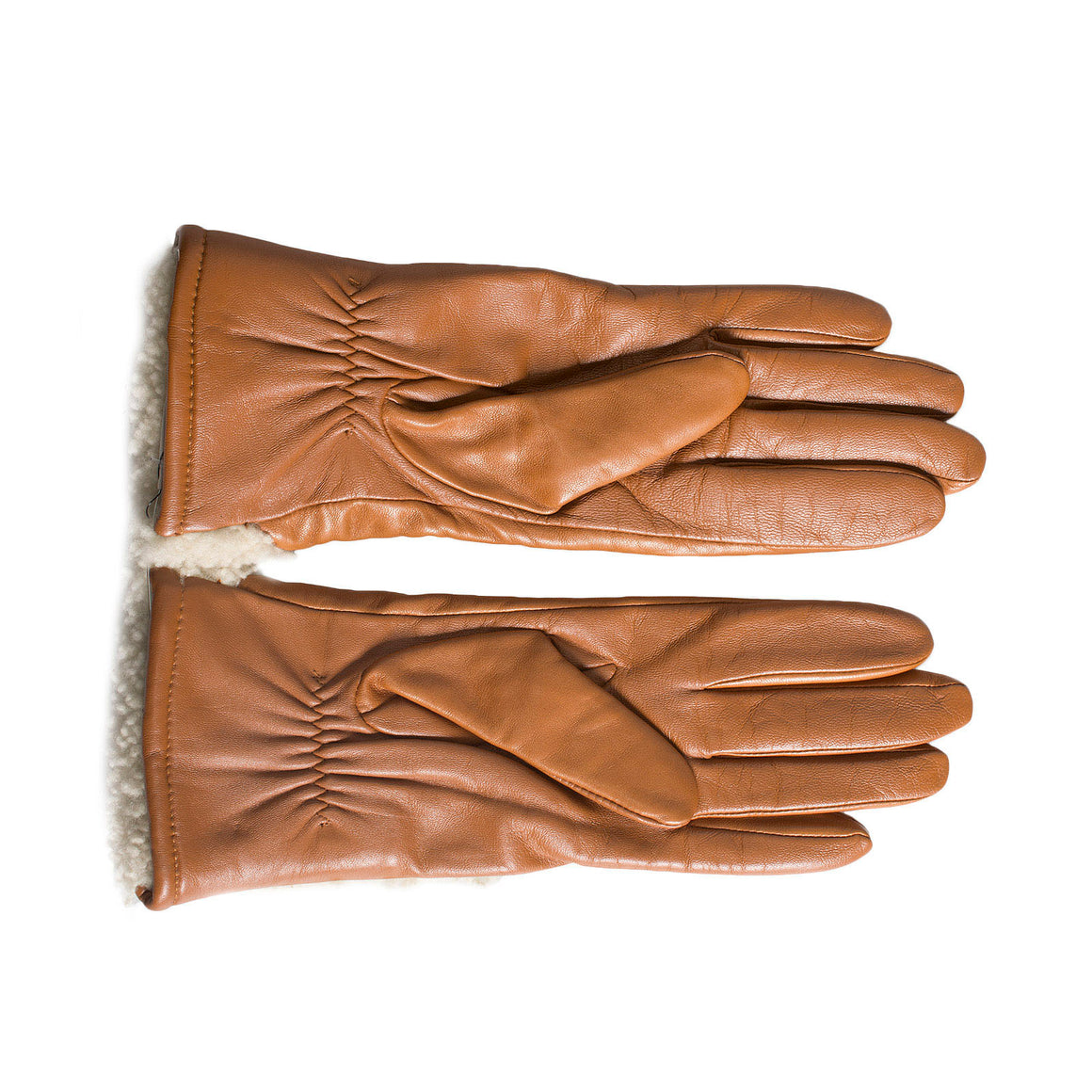 UGG Asymmetrical Smart Curly Chestnut Gloves - Woman's