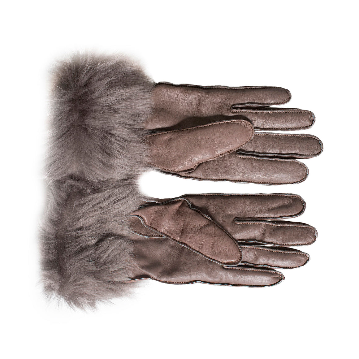 UGG 3 Point Long Toscana Smart Stormy Grey Gloves - Women's