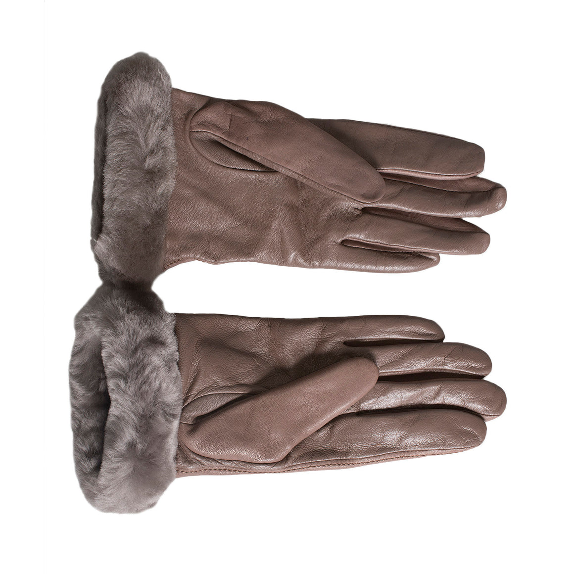 UGG Classic Leather Smart Stormy Grey Gloves - Women's
