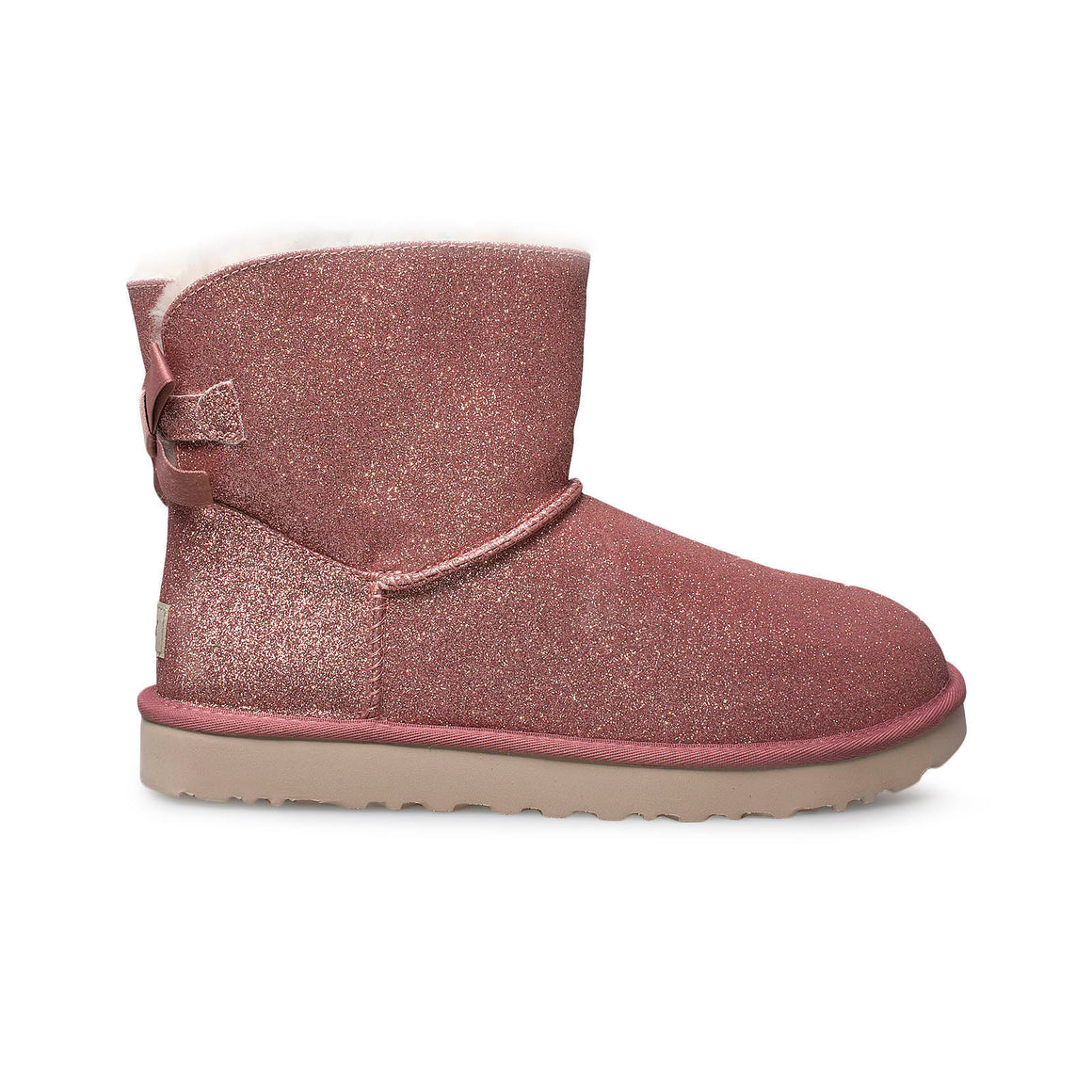 UGG Mini Bailey Bow Sparkle Pink Boots - Women's