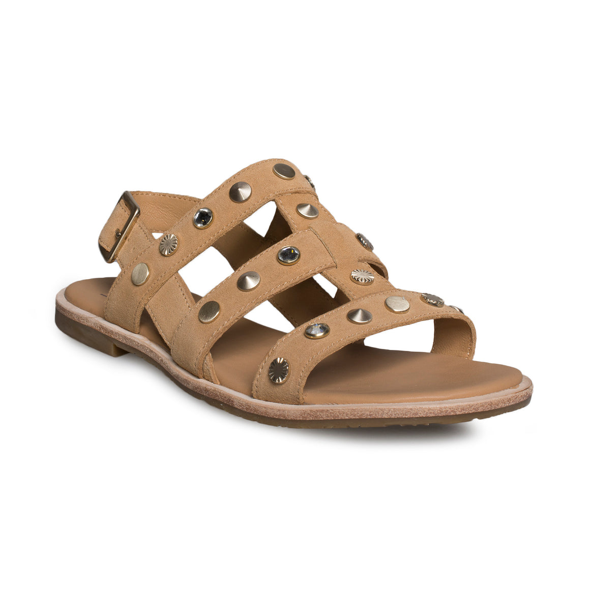 UGG Zariah Studded Bling Latte Sandals - Women's