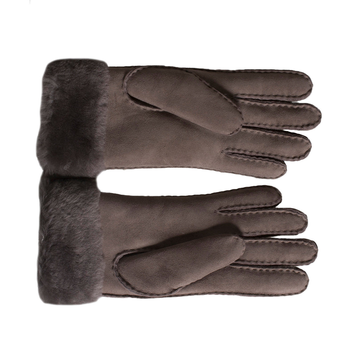 UGG Sheepskin Classic Turn Cuff Stormy Grey Gloves - Women's