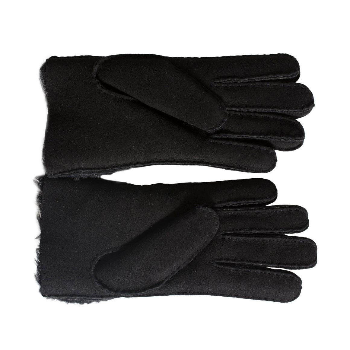 UGG Sheepskin Bow Black Gloves - Women's