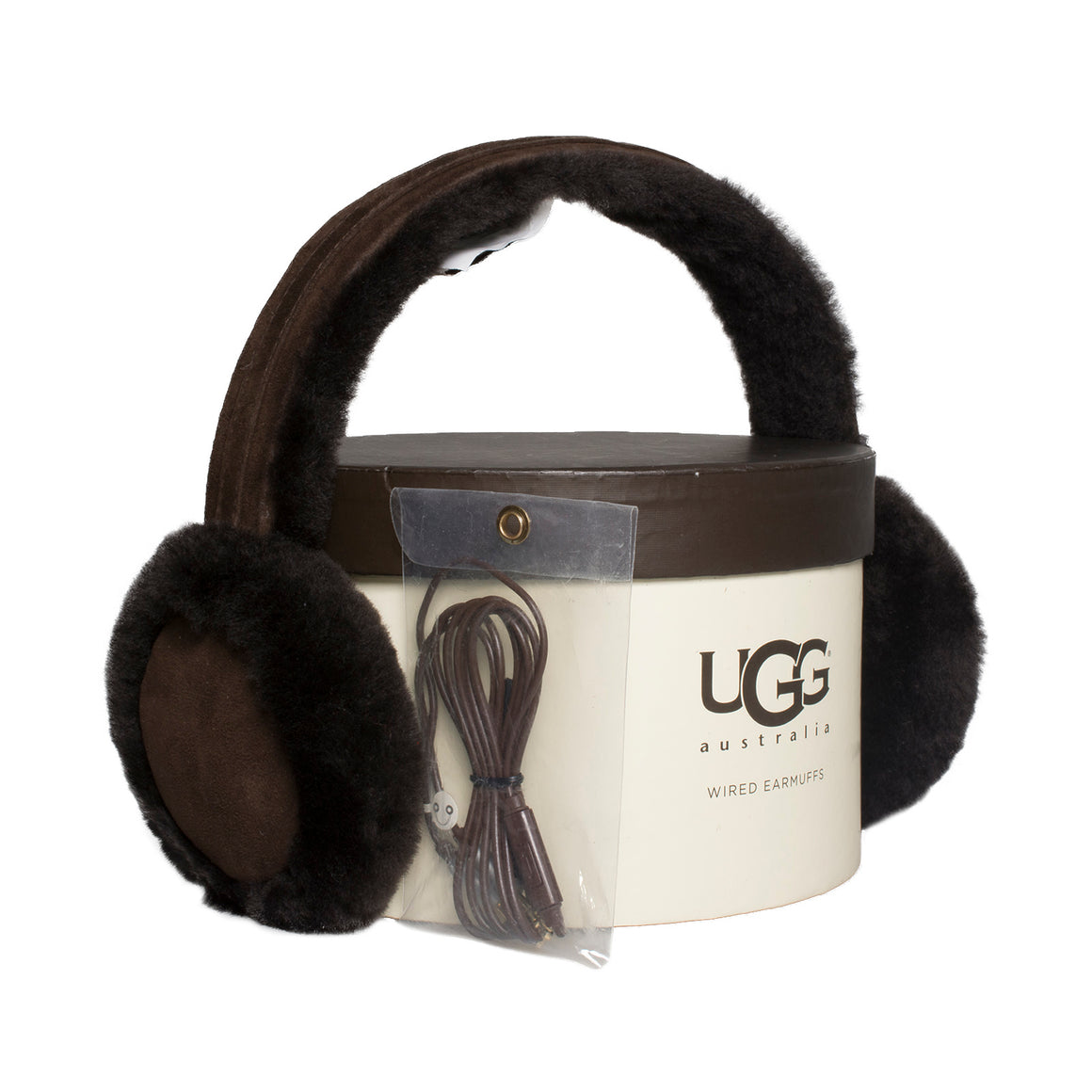 UGG Wired Classic Sheepskin Brown Earmuff - Women's