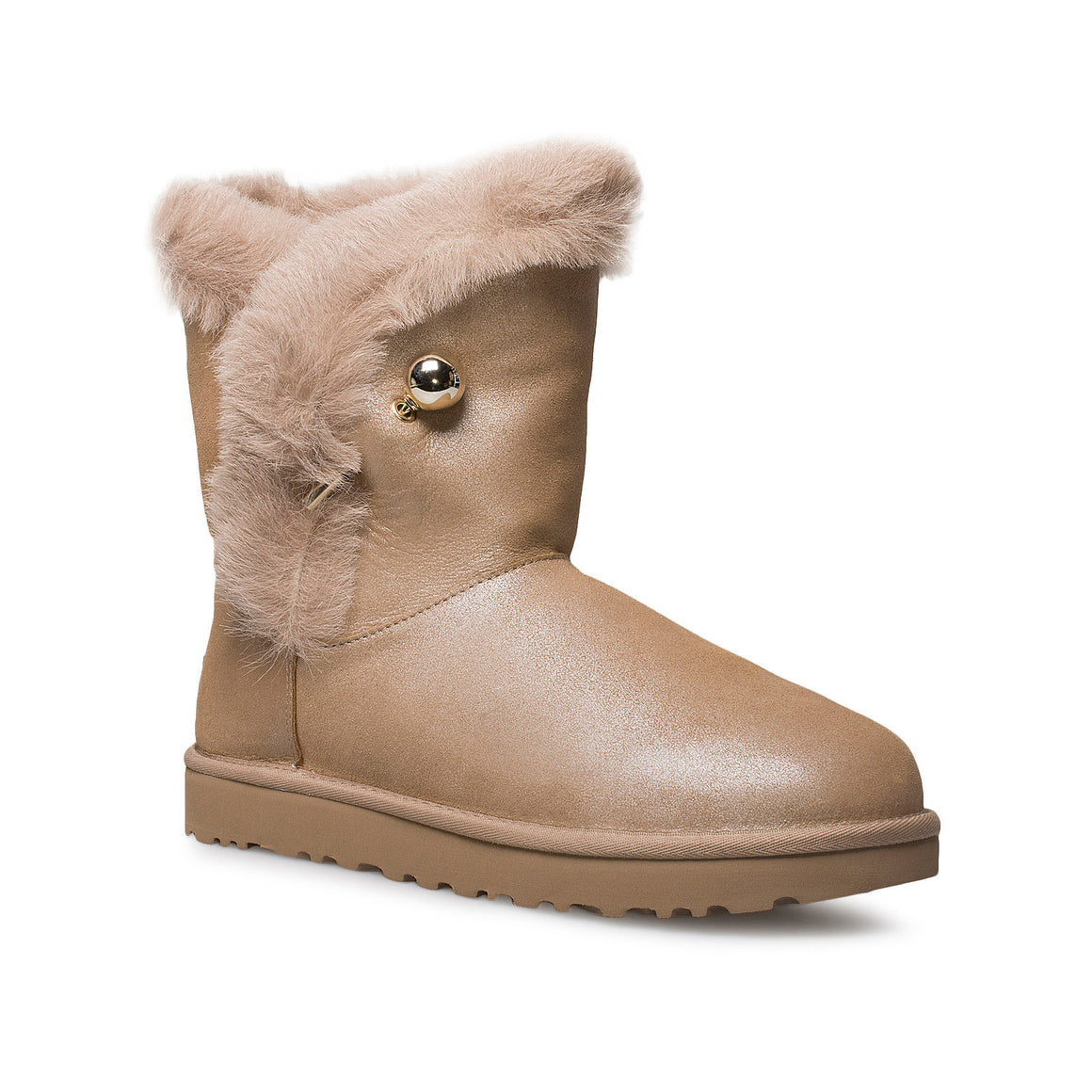 UGG Classic Fluff Pin Antique Pearl Boots - Women's