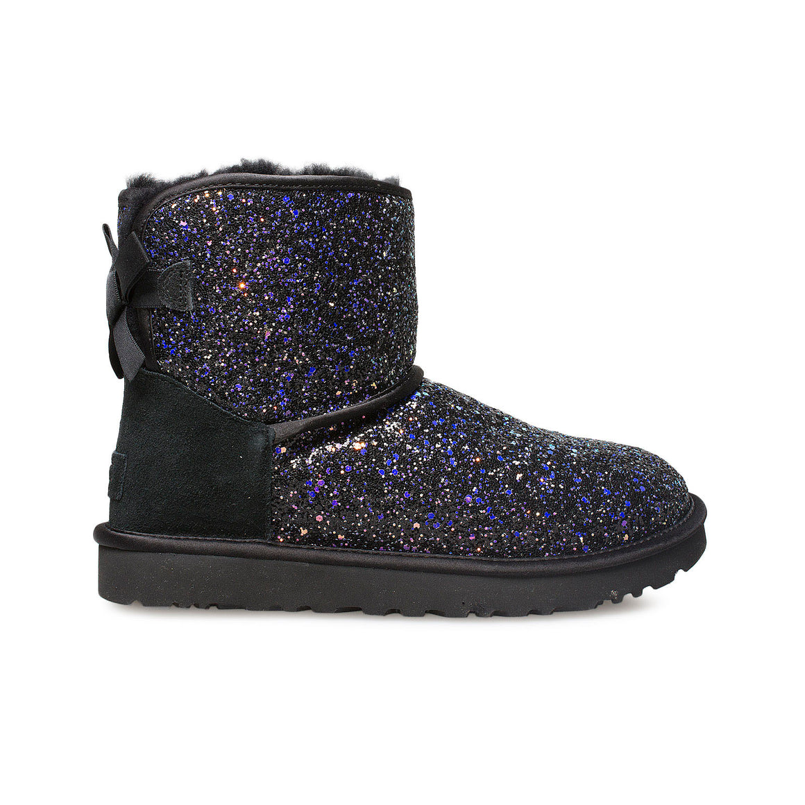 UGG Classic Mini Bow Cosmos Black Boots - Women's