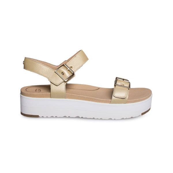 d236f91eae4 UGG Angie Metallic Gold Sandals - Women's