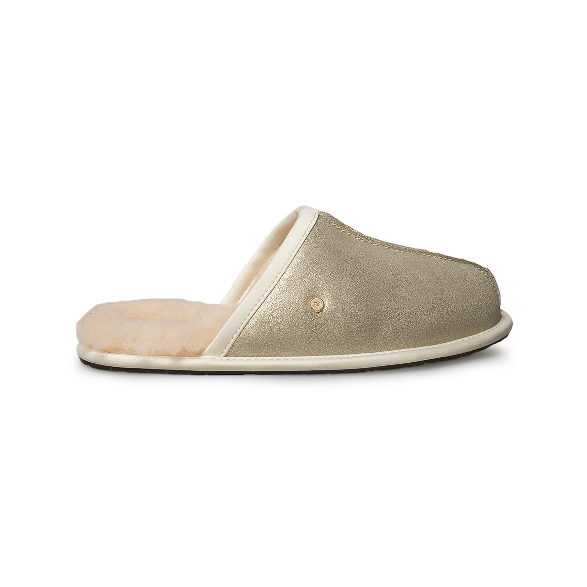 UGG Pearle Sparkle Platinum Gold Slippers - Women's
