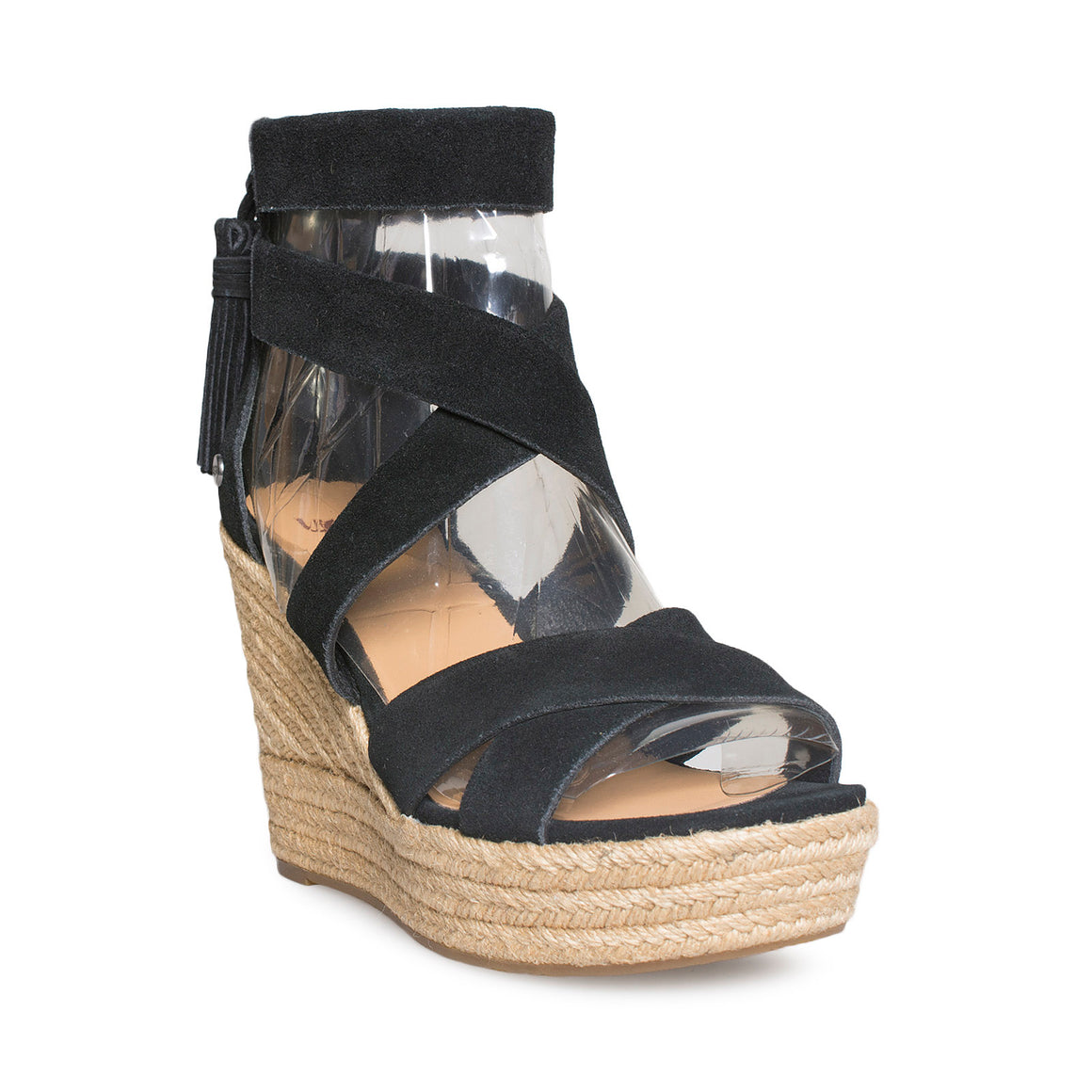 UGG Raquel Black Wedge Sandals - Women's