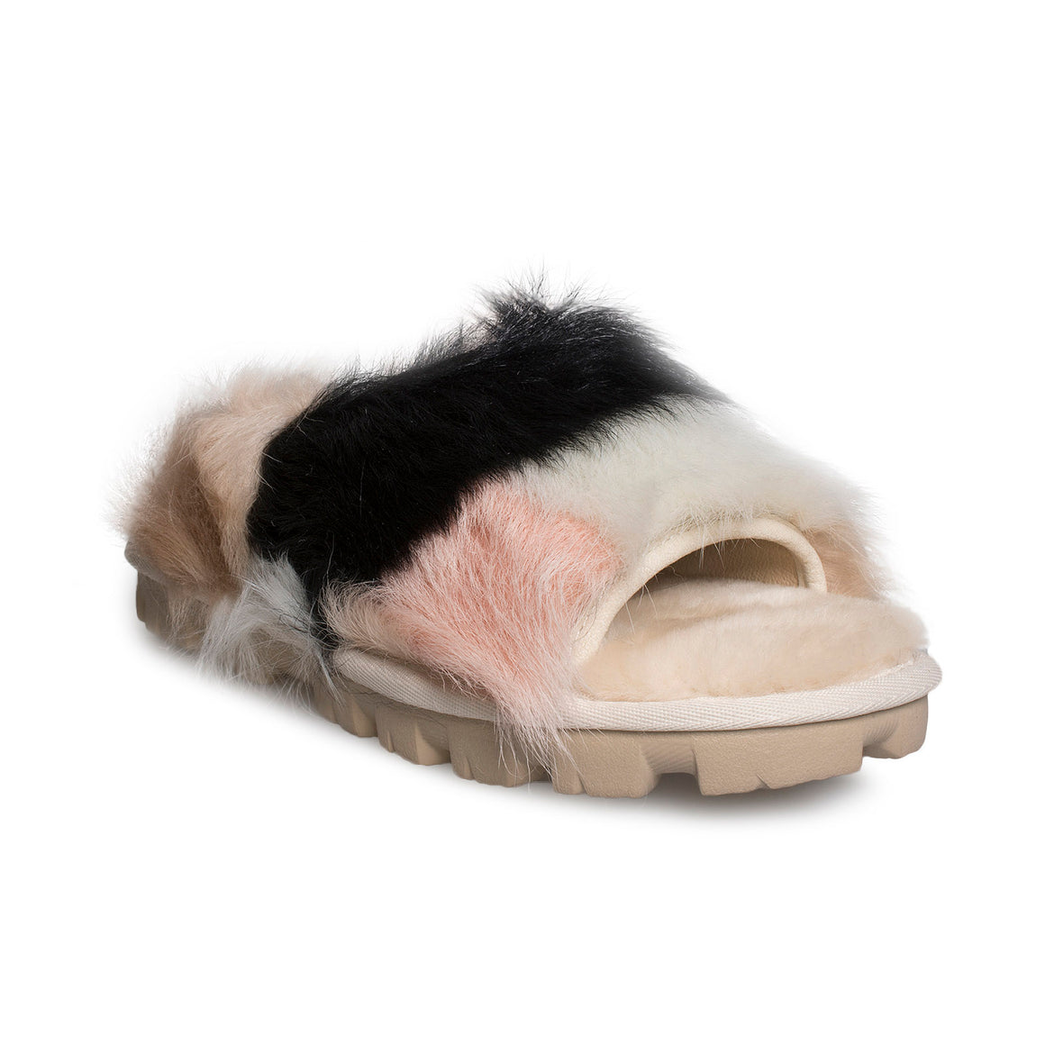 UGG Shag It Crazy Slide Natural Slippers  - Women's