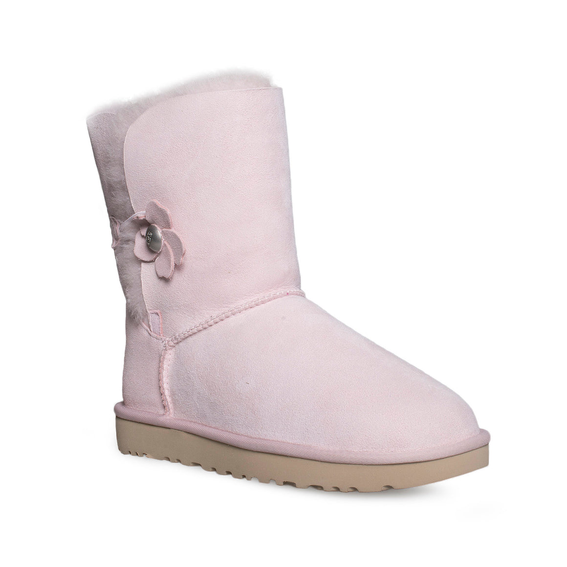 UGG Bailey Button Poppy Seashell Pink Boots - Women's