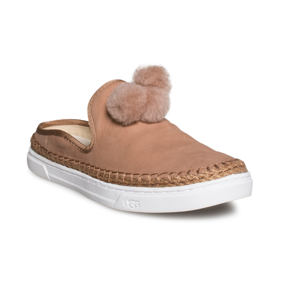 UGG Puff Slip On Sandalwood Shoes - Women's