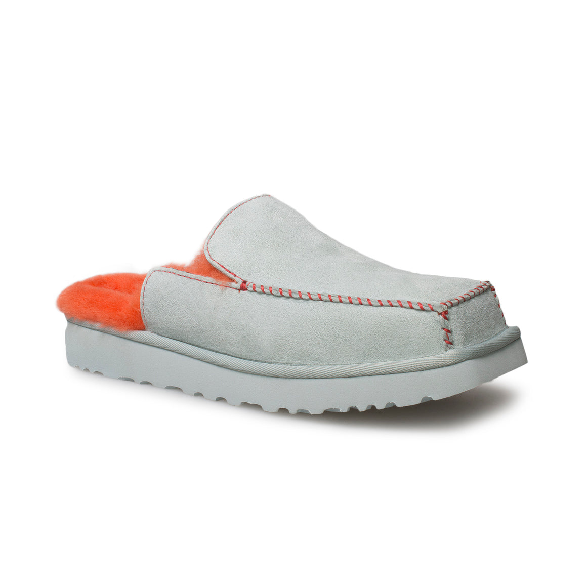 UGG Eckhaus Latta Block Slide Sky Grey Mandarin Orange Shoes - Women's