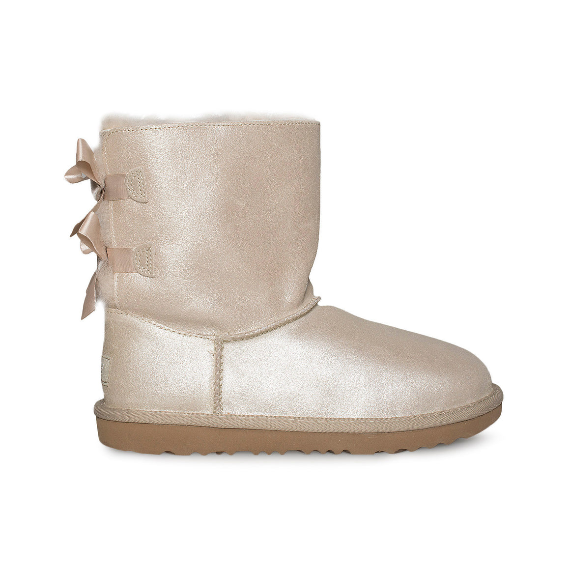 UGG Bailey Bow II Shimmer Gold Boots - Youth