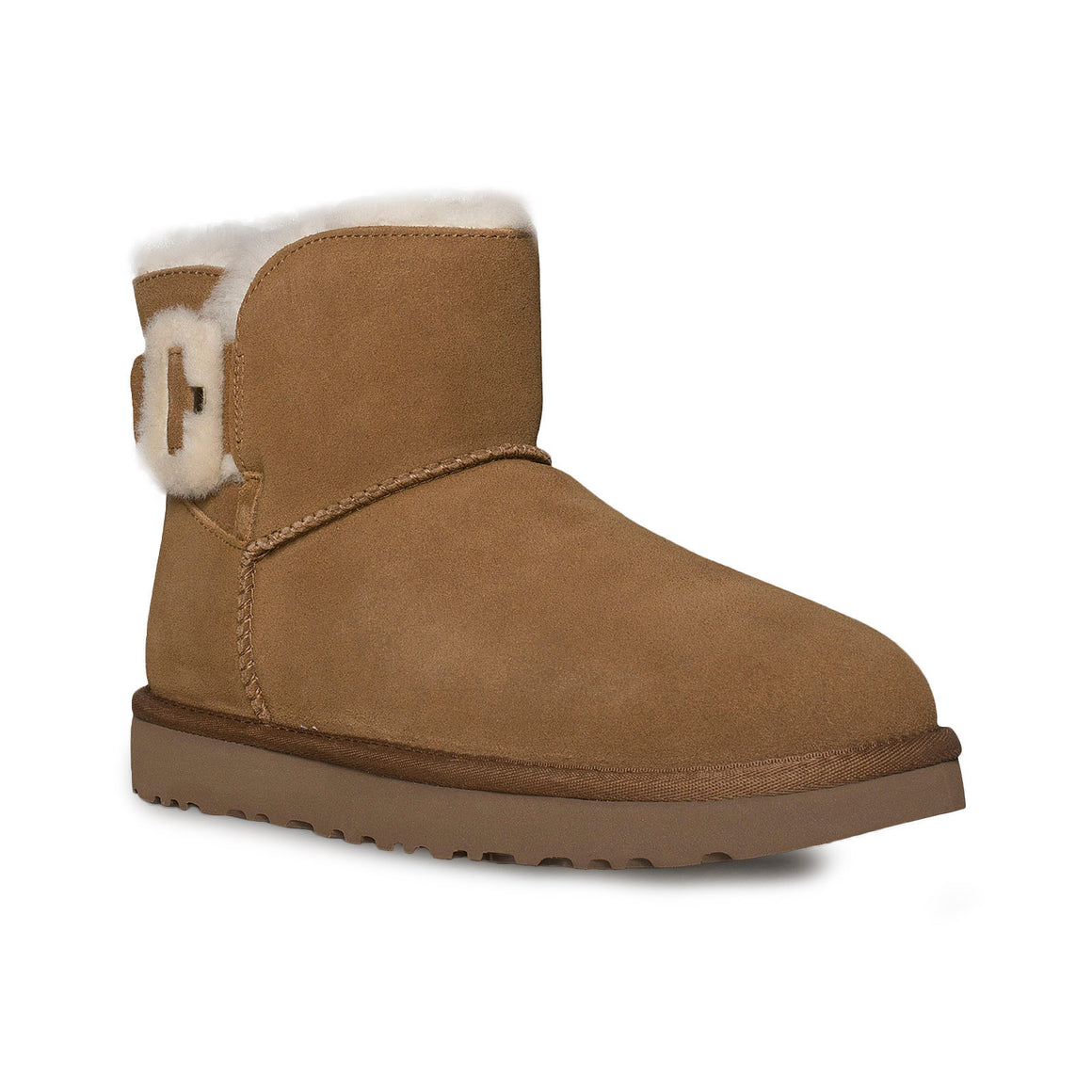 UGG Mini Fluff Buckle Chestnut Boots - Women's