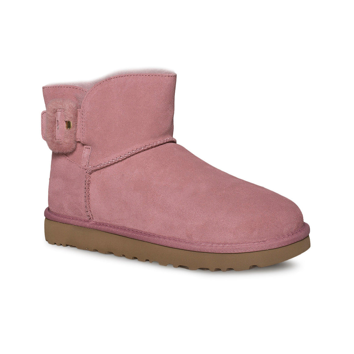 UGG Mini Fluff Buckle Pink Dawn Boots - Women's