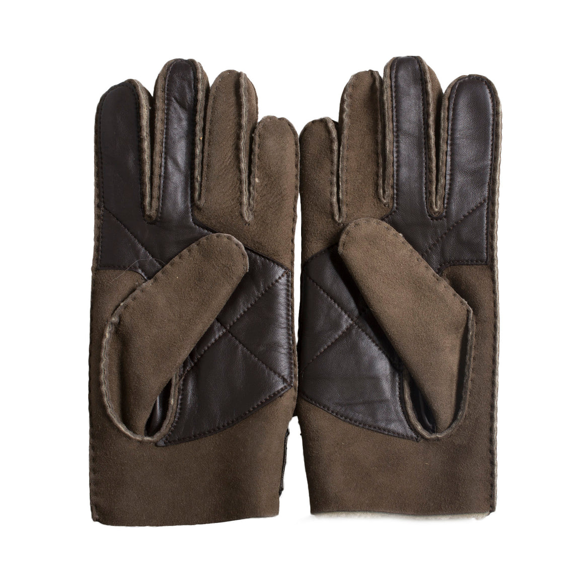 UGG Sheepskin Snap Tab Slate Curly Glove - Men's