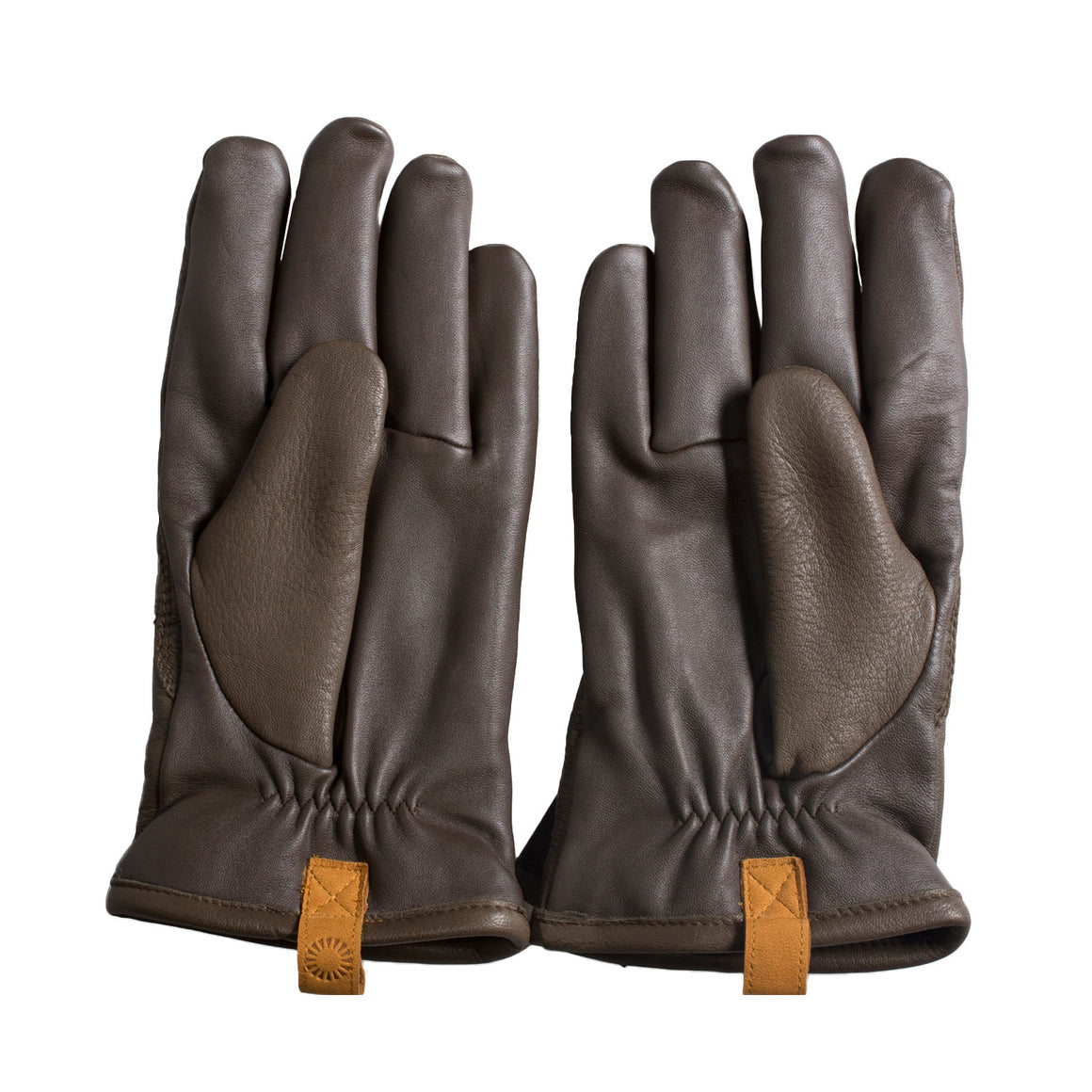 UGG Casual Leather with Pull Tab Cordovan Gloves- Men's