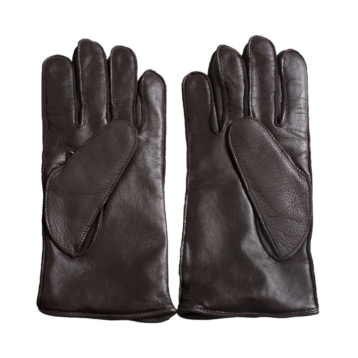 UGG Tech Lambswool Lined Leather Brown Gloves - Men's