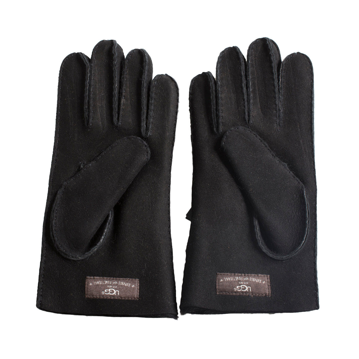 UGG Shearling Without Points Black Gloves - Men's