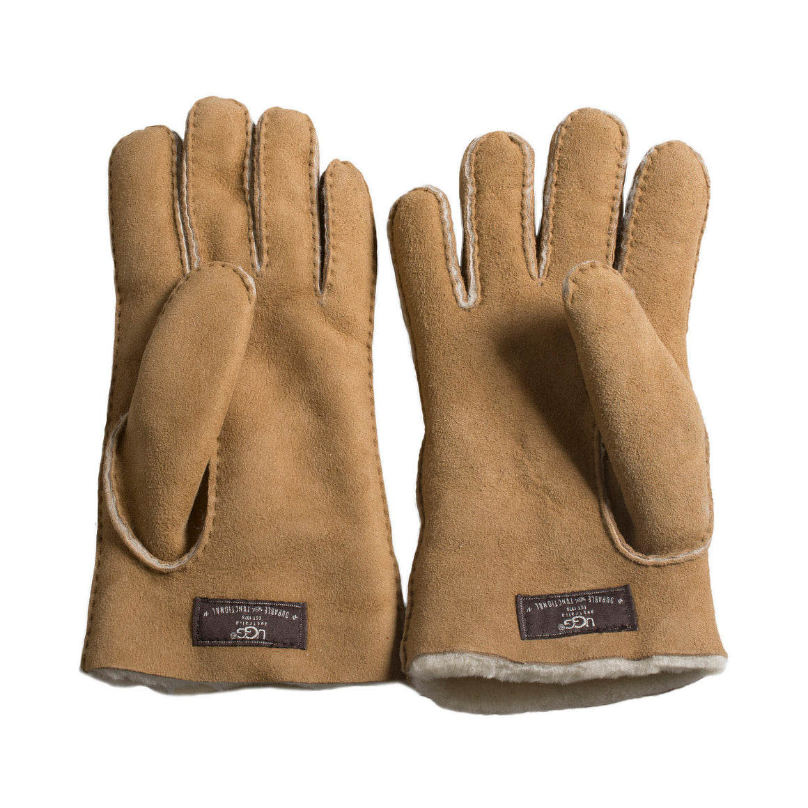 UGG Shearling Without Points Chestnut Gloves - Men's