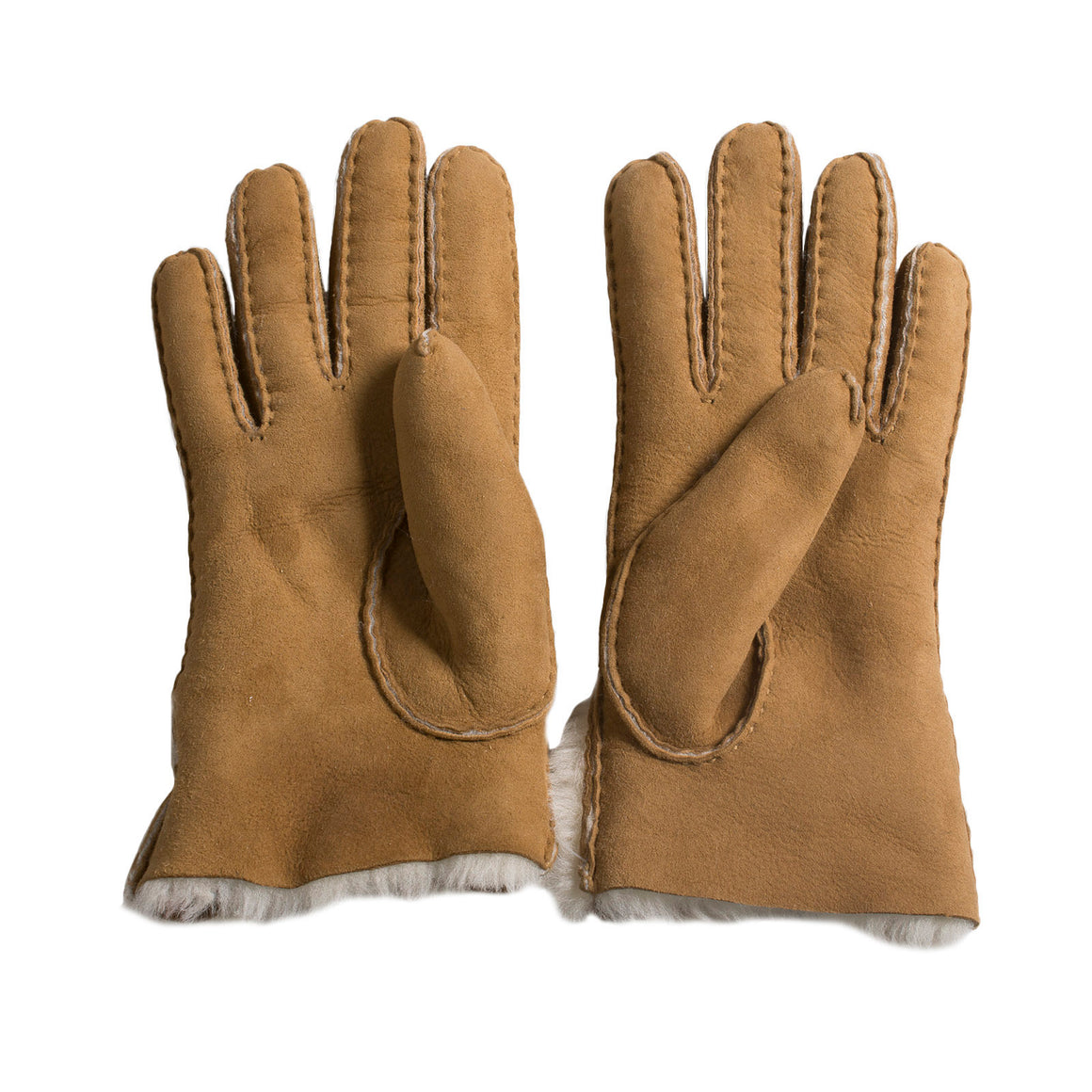 UGG Sheepskin Bow Chestnut Gloves - Women's