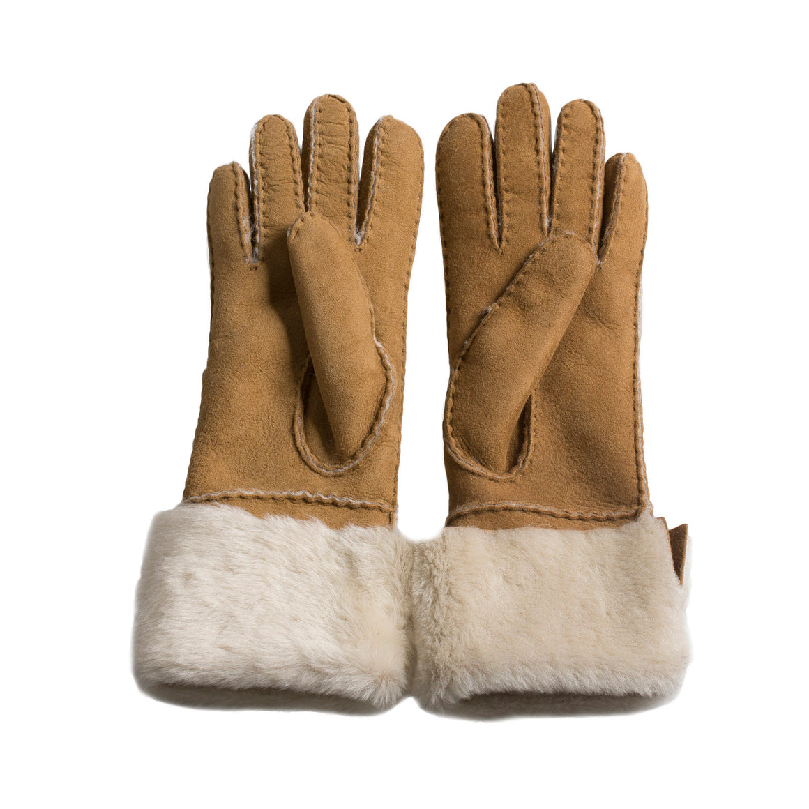 UGG Sheepsken Long PCD Slim Chestnut Gloves - Women's