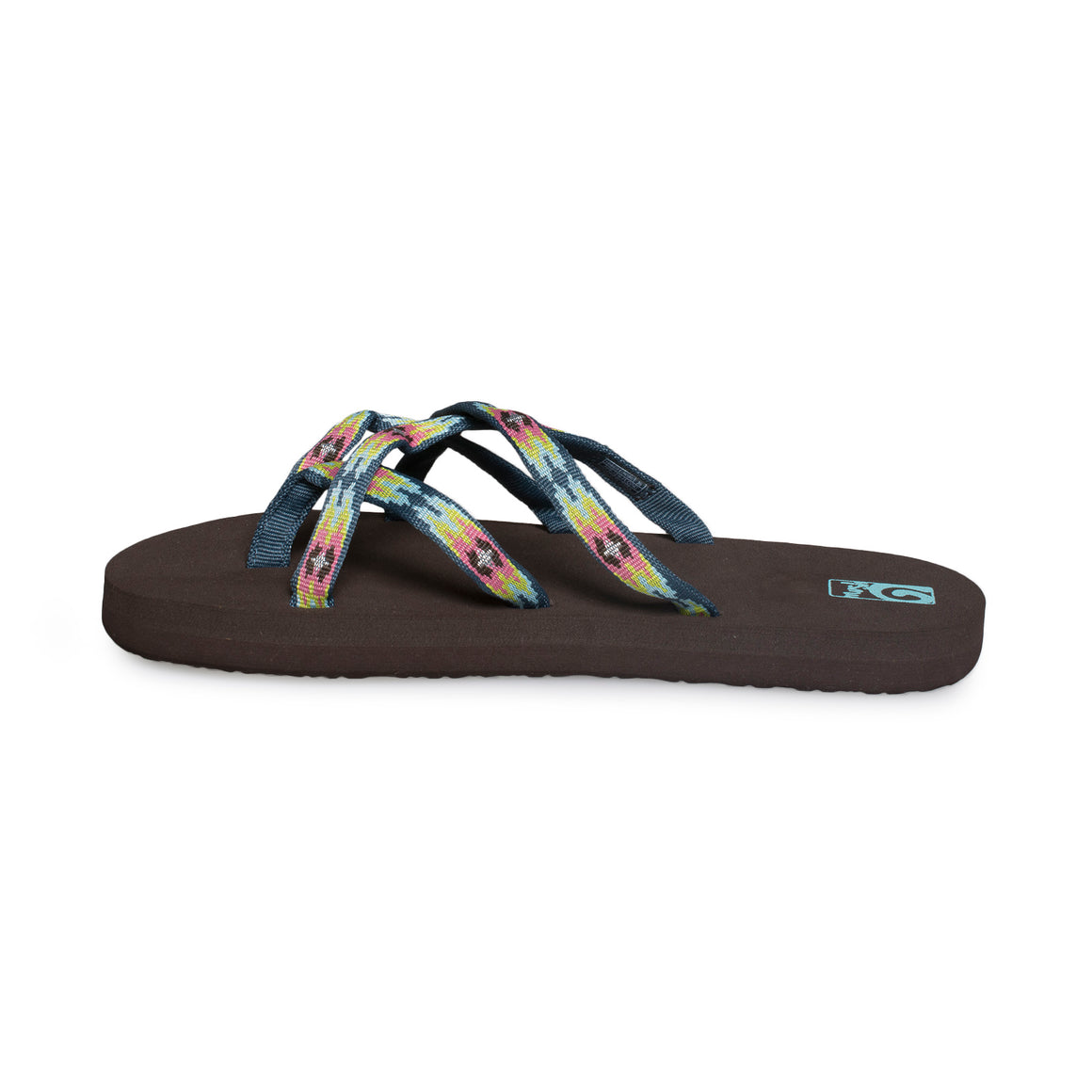 TEVA Olowahu Pana Chocolate Flip Flop - Youth