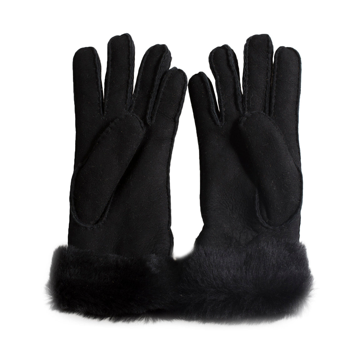 UGG Turn Cuff Black Gloves - Women's