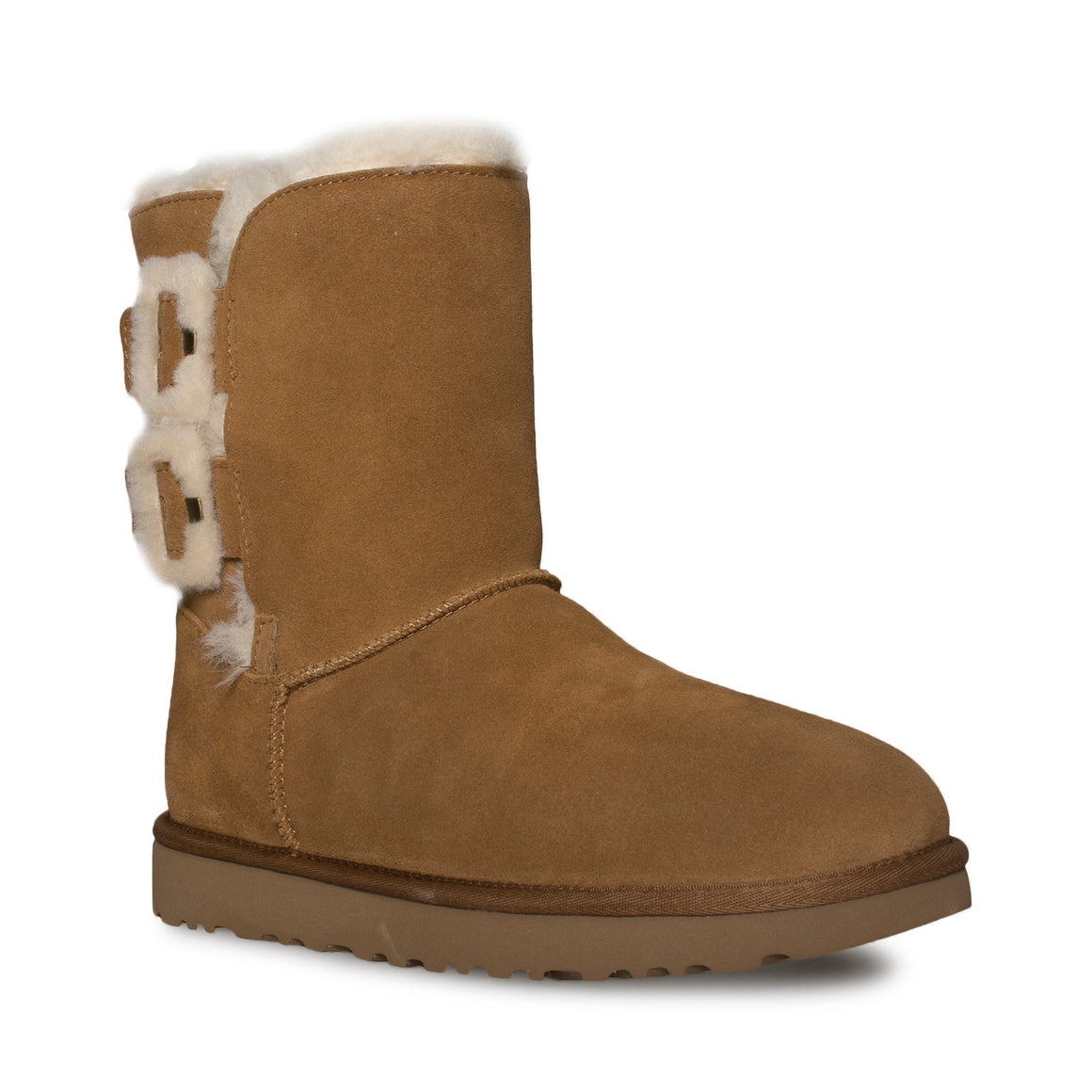 UGG Bailey Fluff Buckle Chestnut Boots - Women's