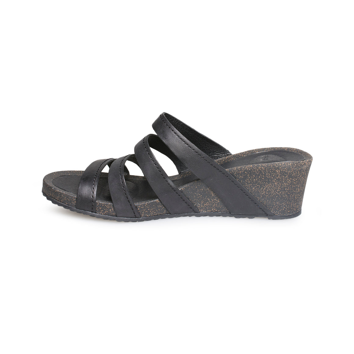 Teva Ysidro Slide Wedge Black Sandals - Women's