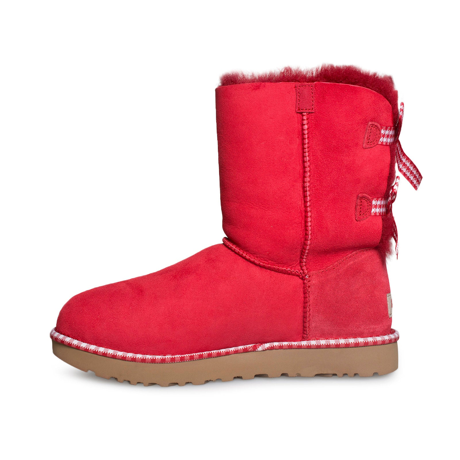 57a10c37020 UGG Bailey Bow Gingham Ribbon Red Boots - Women's