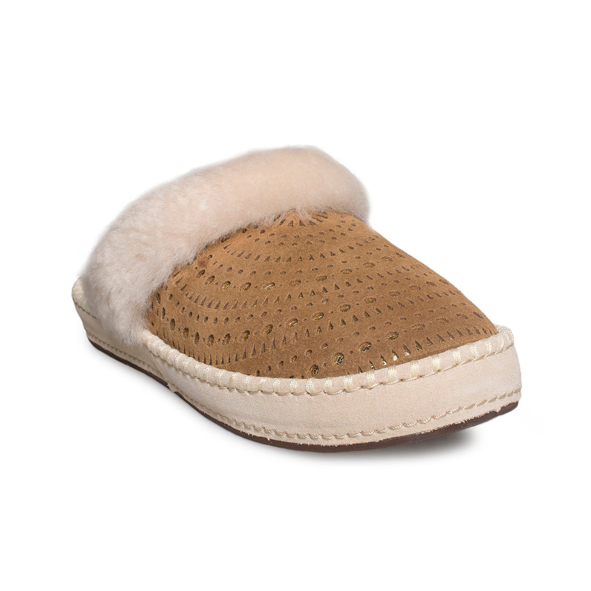 UGG Aira Sunshine Perf Chestnut Slippers - Women's