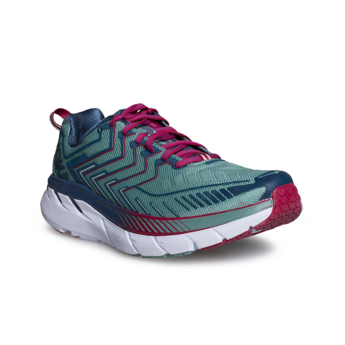 Hoka Clifton 4 Aquifer / Vintage Indigo Running Shoes - Women's