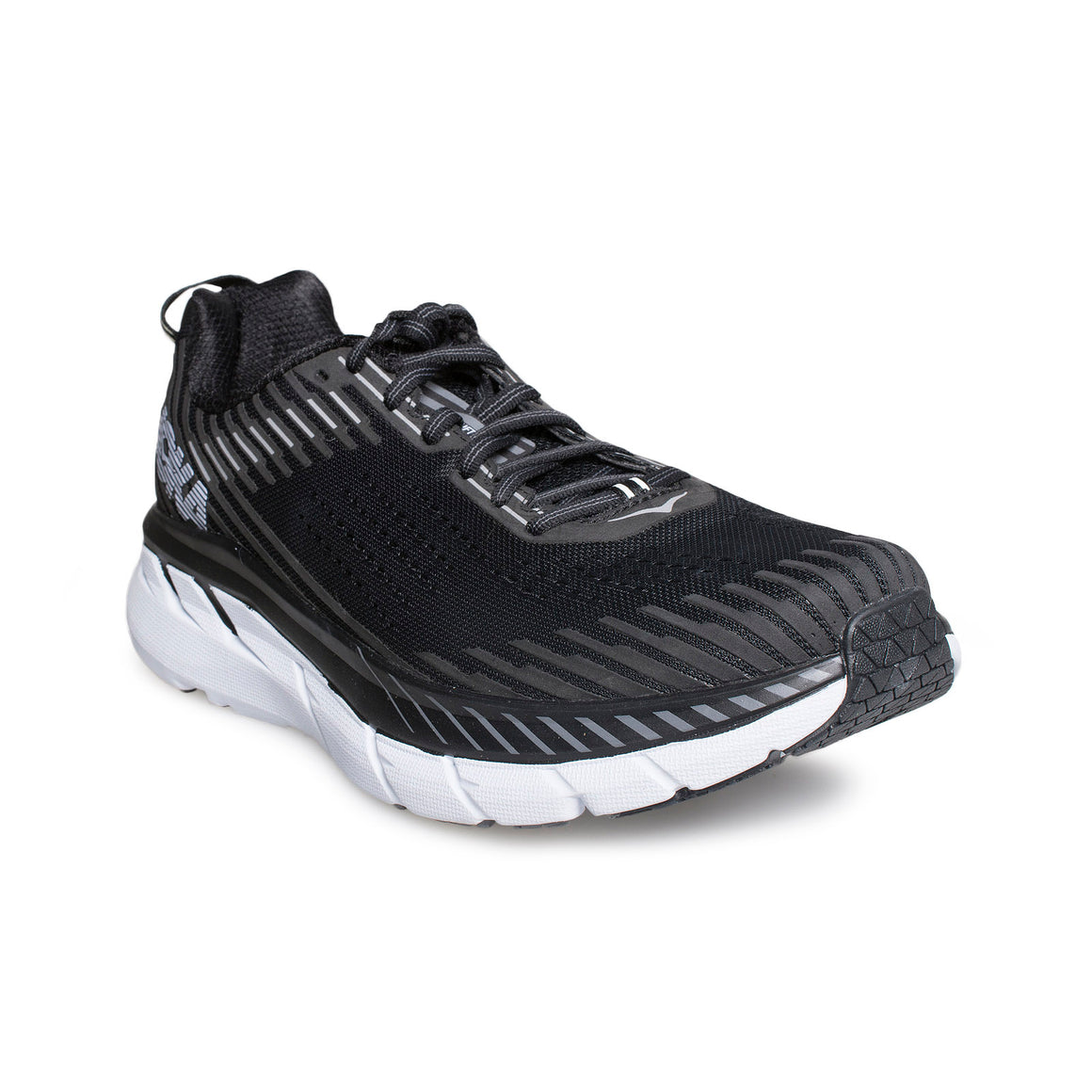 HOKA Clifton 5 Black / White Shoes - Men's