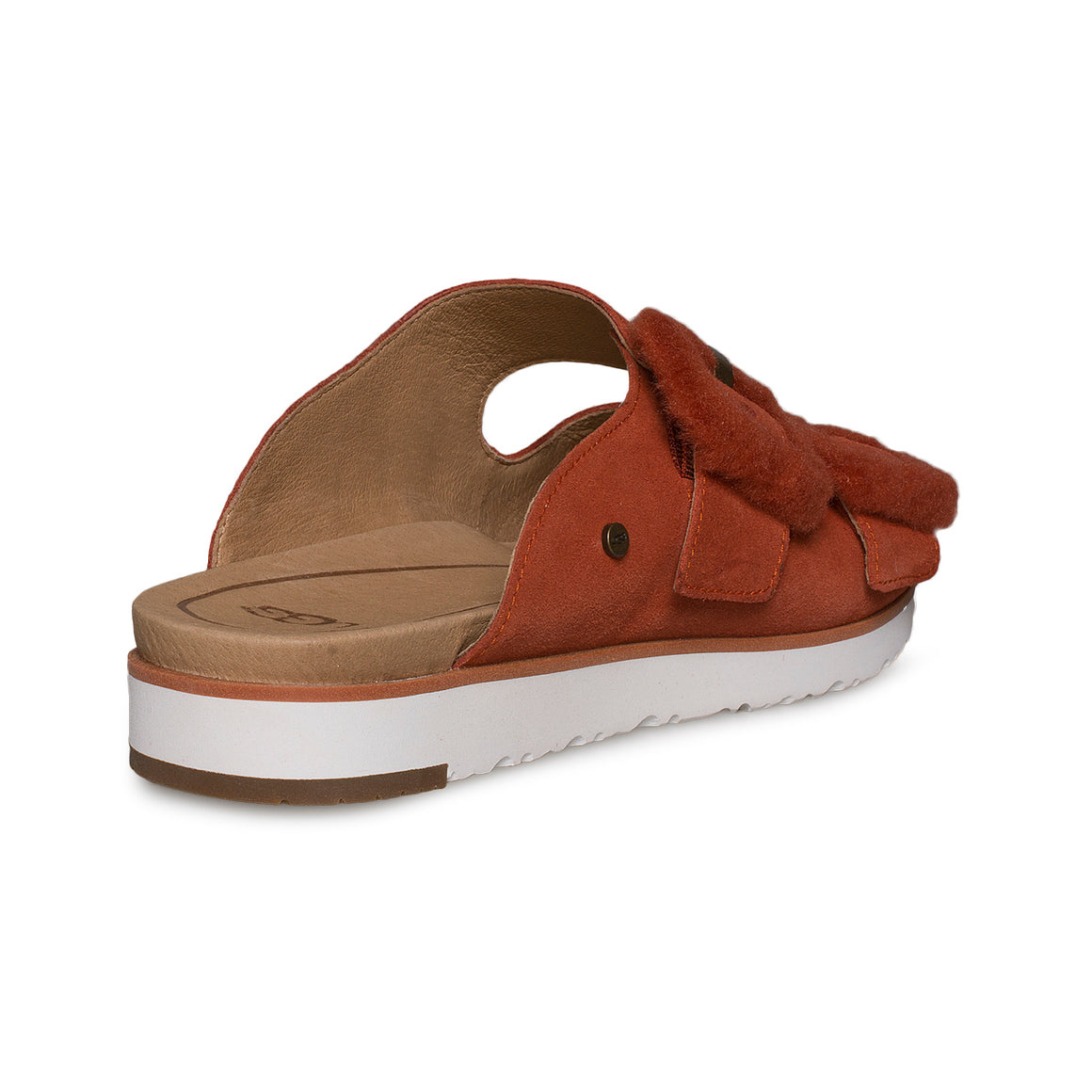 UGG Fluff Indio Red Rock Sandals - Women's