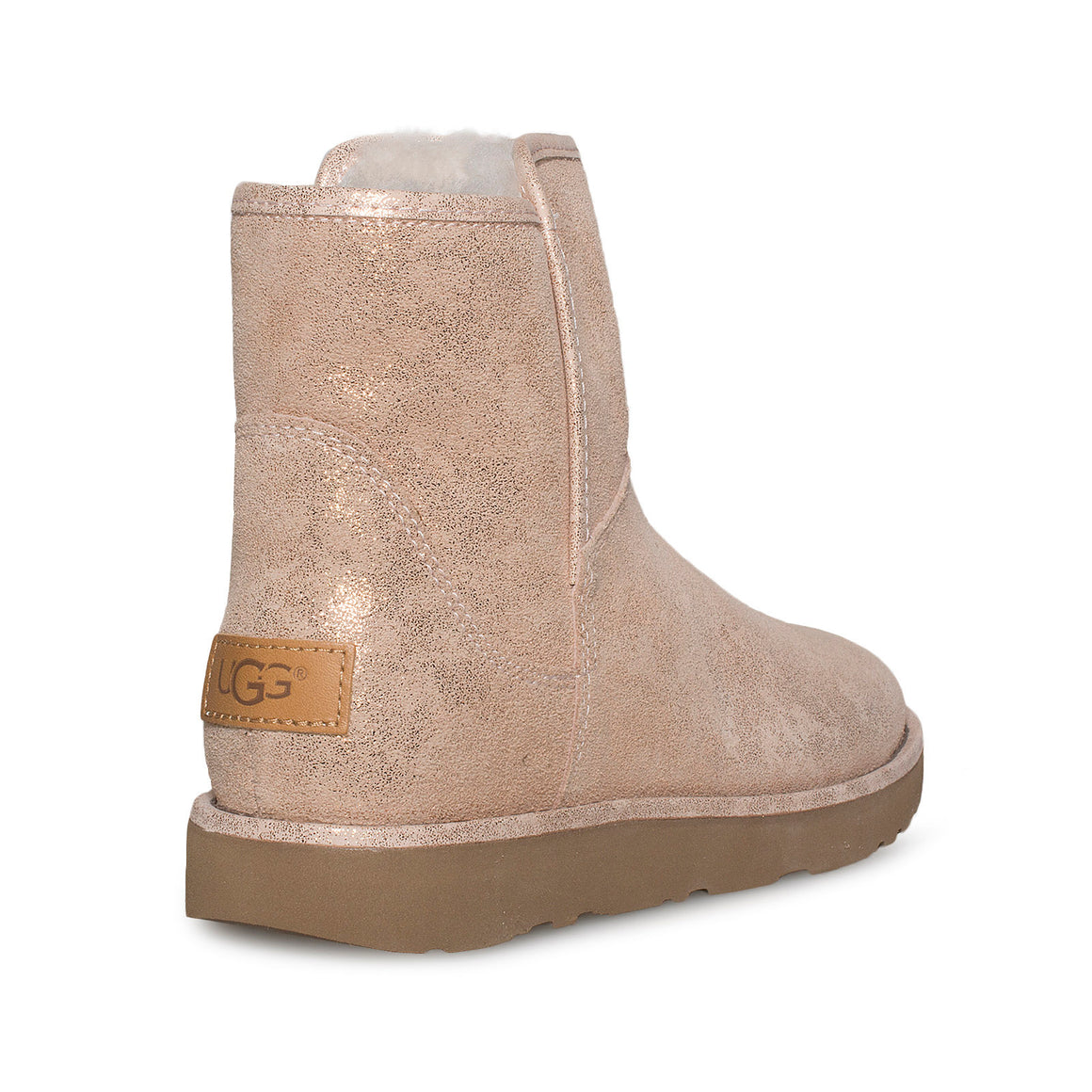 UGG Abree Mini Stardust Rose Gold Boots - Women's