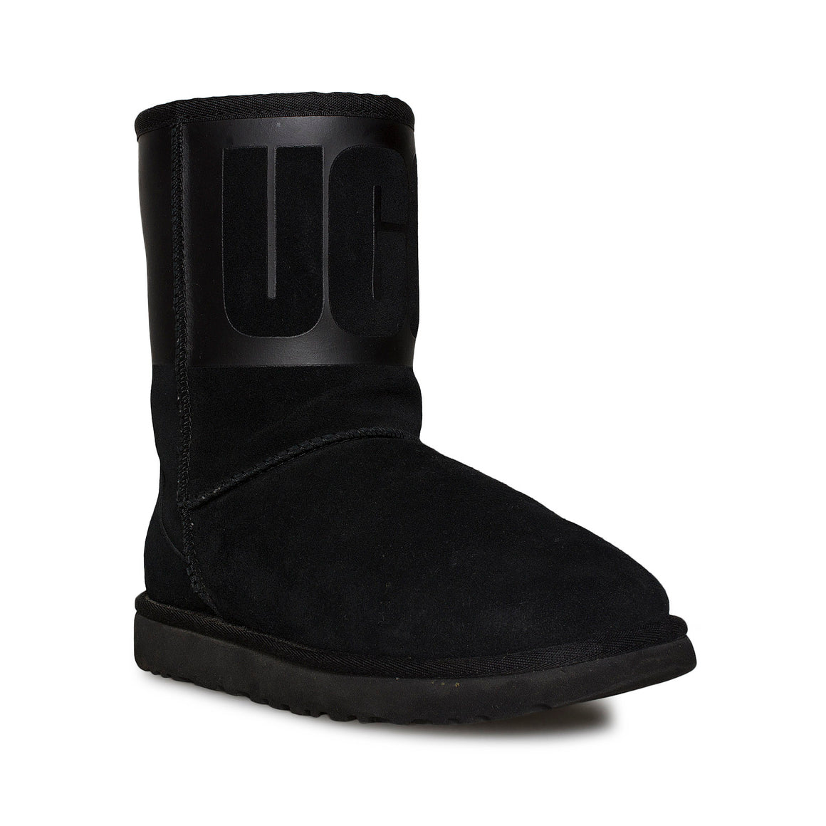 UGG Classic Short UGG Rubber Graphic Black Boots - Women's