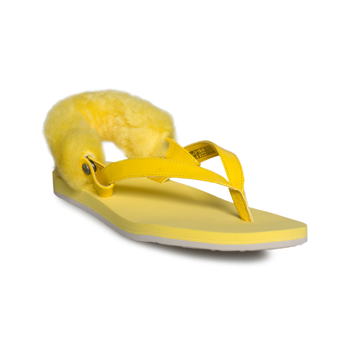 UGG LaaLaa Lemon Yellow Flip Flops - Women's
