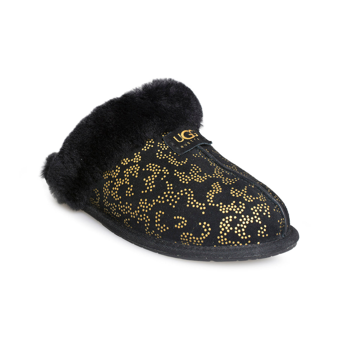 UGG Scuffette II Metallic Conifer Black Slippers - Women's