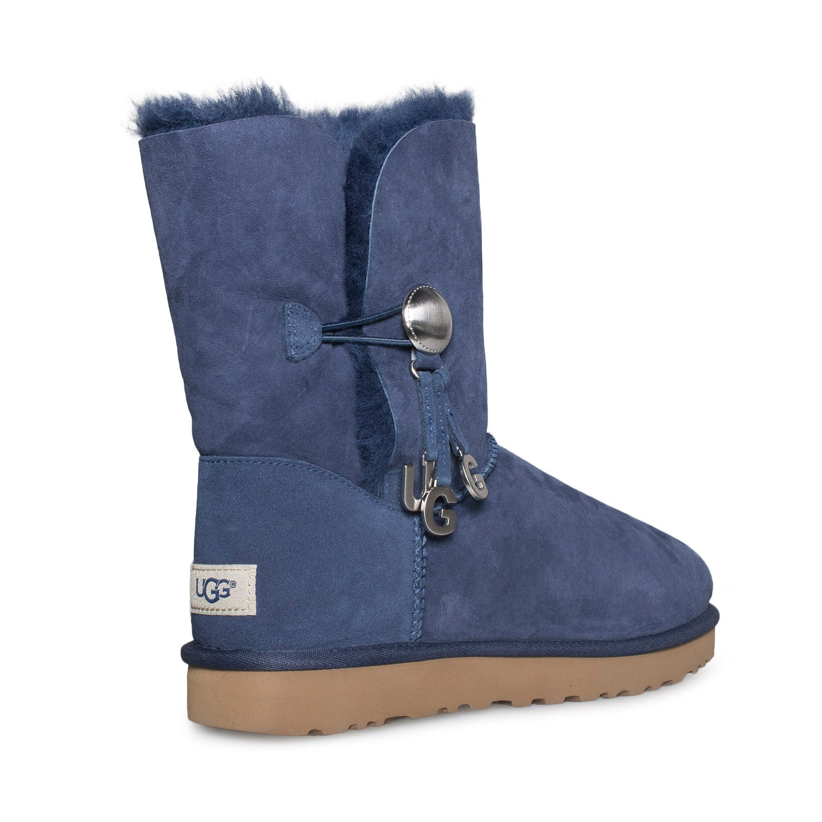 high quality outlet for sale nice shoes UGG Bailey Button UGG Charm Navy Boots - Women's