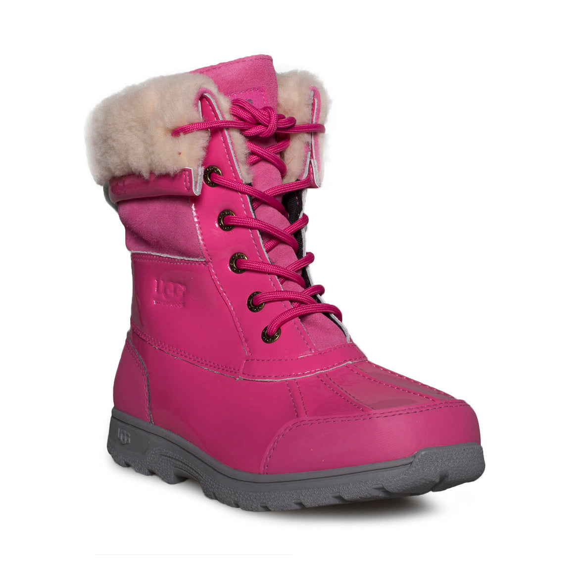 UGG Butte II Patent Dove Pink Boots - Youth