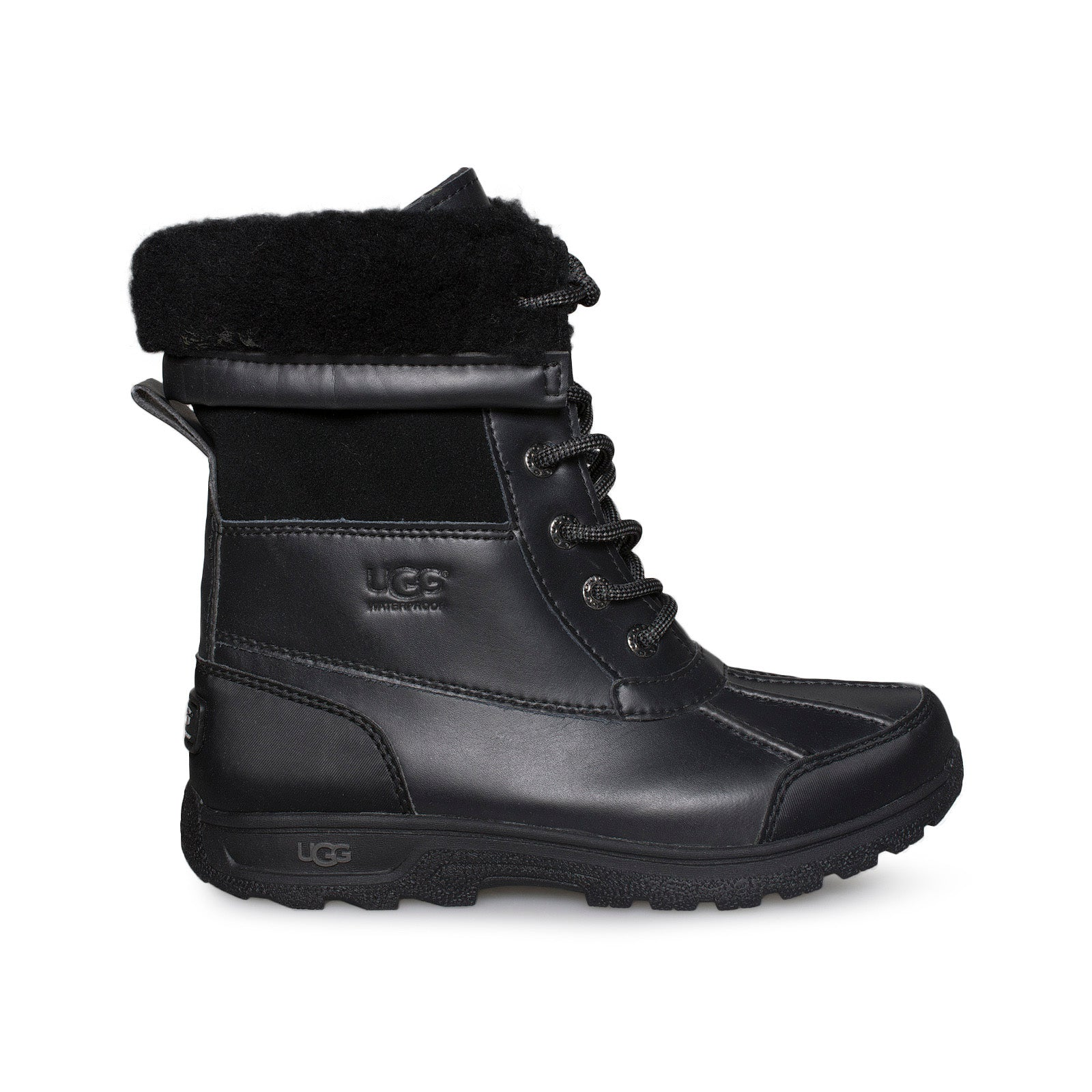 1f46e14754a UGG Butte II Black Boots - Youth