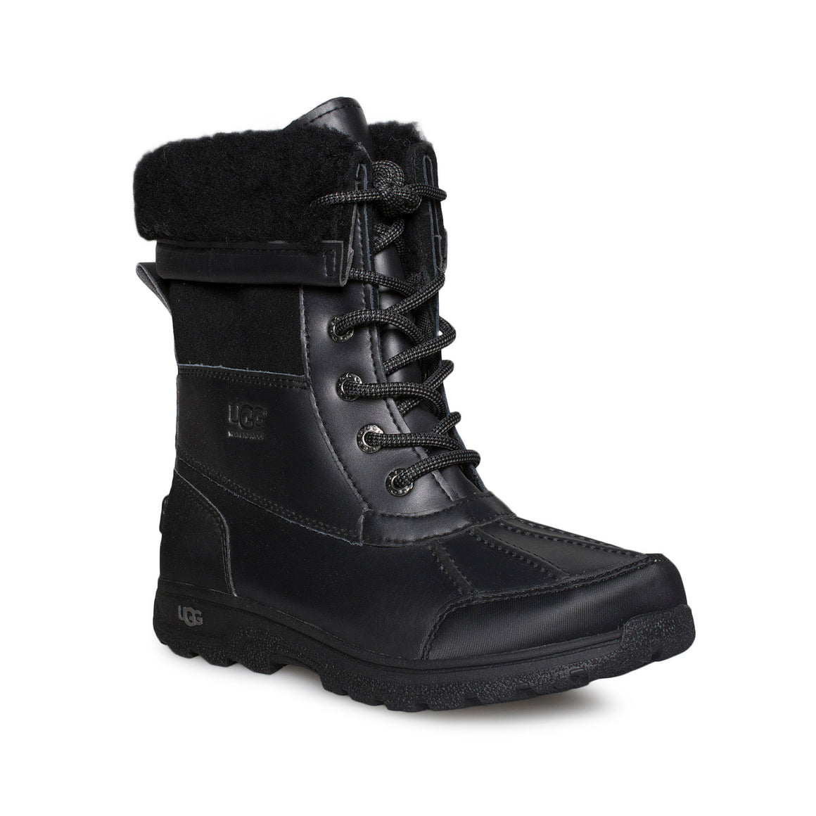 UGG Butte II Black Boots - Youth