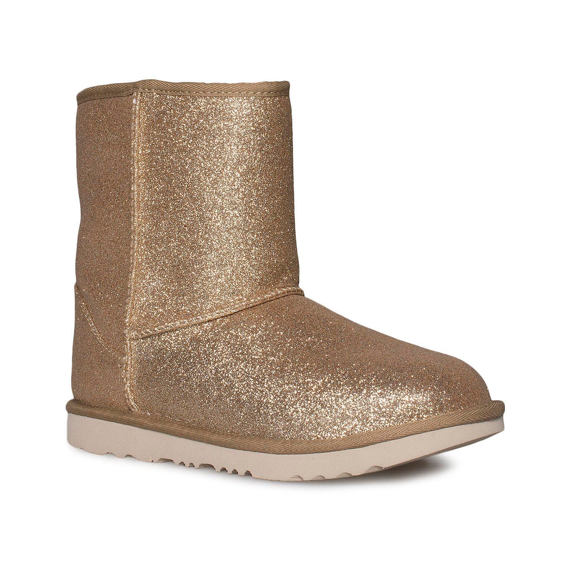 UGG Classic Short II Glitter Gold Boots - Youth