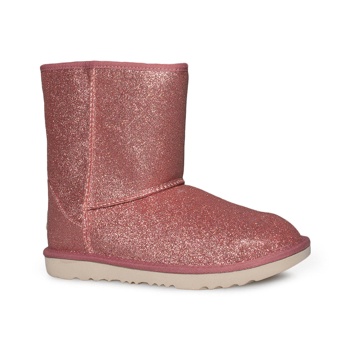 UGG Classic Short II Glitter Pink Boots - Youth