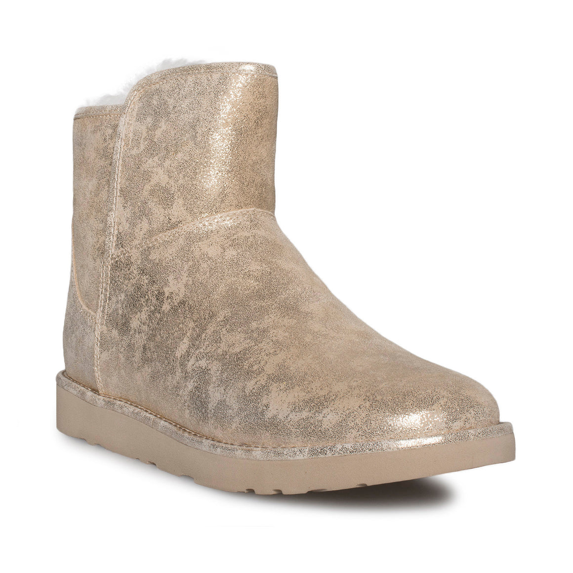 UGG Abree Mini Stardust Metal Gold Boots - Women's