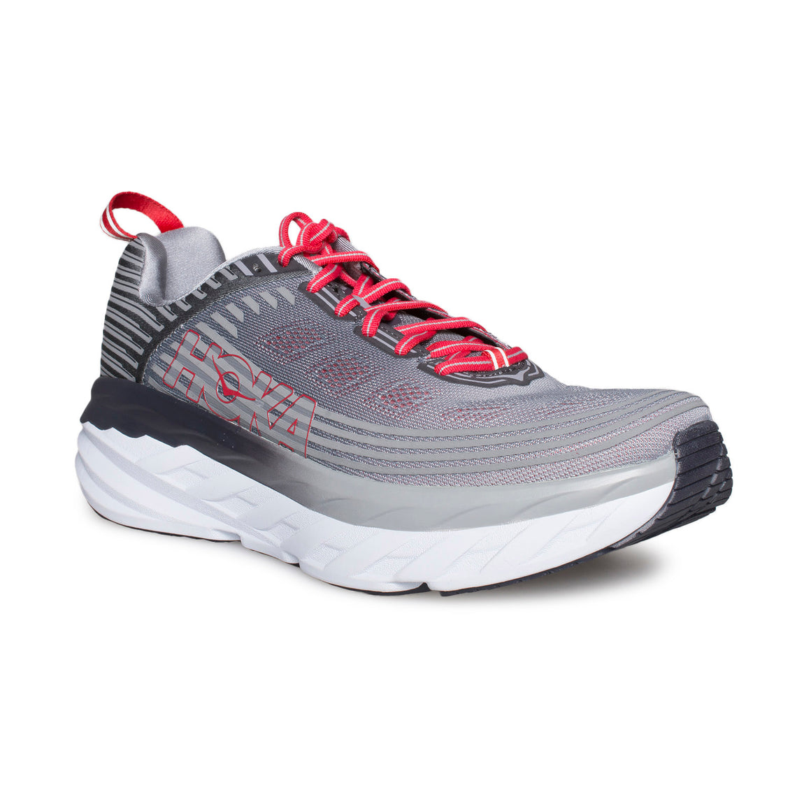 HOKA ONE ONE Bondi 6 Alloy / Steel Gray Running Shoes - Men's